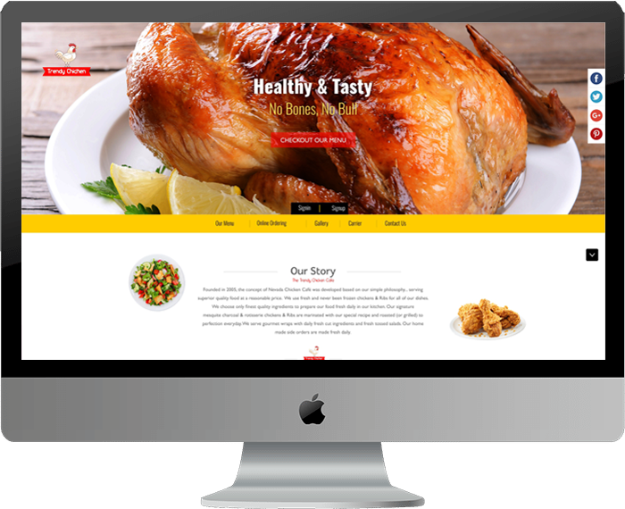 Chicken Shop Website Template