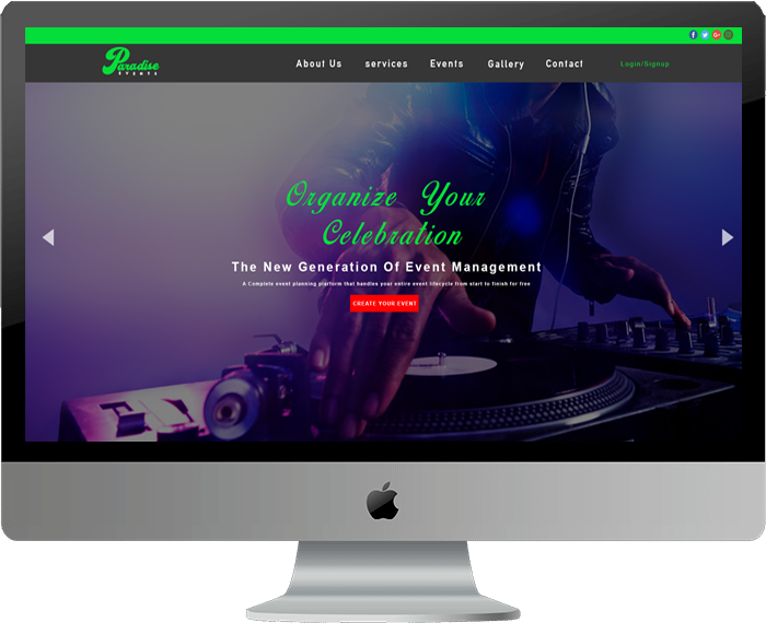 Events Website Template